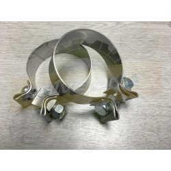 Colliers Inox 70/80mm Echappement