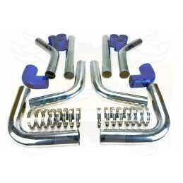 Kit durites et pipes 64mm Bleu pour Intercooler Gros volume DriveOnly Universel