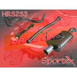 Ligne Performance + Décatalyseur  Sportex 2  Honda Civic 1.3 / 1.5 / 1.6 LSI & Vtec  1991 - 2001