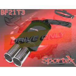 Silencieux Sportex 2  Ford Escort 1.6 XR3i 1982 - 1990