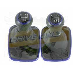 Pommeau de vitesse  + Soufflet  Cuir 2  Universel Volkswagen / Audi / Seat / Skoda 5 / 6 Vitesses