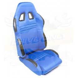 Siège Semi Baquet DriveOnly Tissu & Cuir Bleu