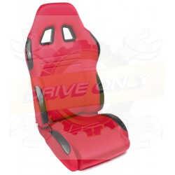 Siège Semi Baquet DriveOnly Tissu & Cuir Rouge