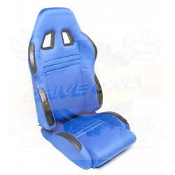 Siège Semi Baquet DriveOnly Alcantara & Cuir Bleu