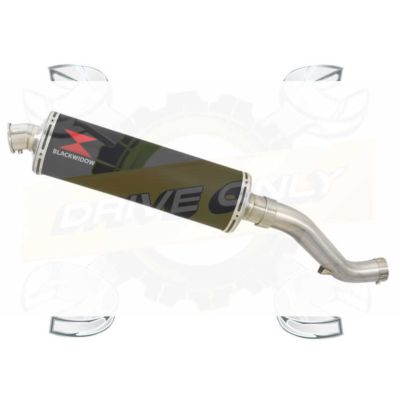 VFR1200F / VFR 1200 2010-2016  Exhaust tube de raccord et Ovale Noir Silencieux En Inox 400mm