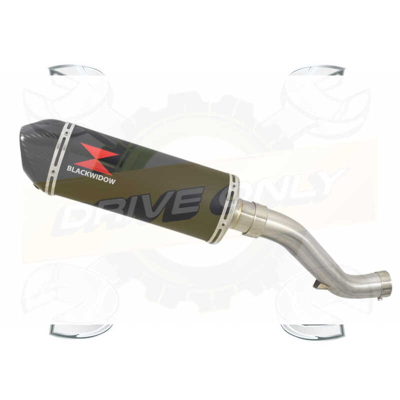 VFR1200F / VFR 1200 2010-2016  Exhaust tube de raccord et Ovale Noir Silencieux En Inox + Carbon Tip 300mm