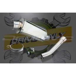 Échappement Oval en Acier Inoxydable 225mm SS70 Pour RSV TUONO 1000 / Racing 2003 - 2004
