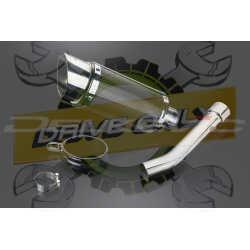 Échappement Rond en Fibre Carbone 200mm Mini Pour RSV 1000 R 1999 - 2003
