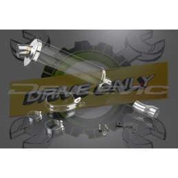 Échappement Ovale en Fibre Carbone 350mm Stubby Pour S1000RR 2010 - 2014
