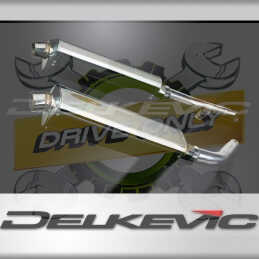 HONDA CBF1000/GT/ABS 06-11 KIT-SILENCIEUX 2X 420MM TRI-OVALE INOX