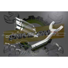 YAMAHA FZ6 N/S 2004-2010 ECHAPPEMENT SILENCIEUX 200MM ROND CARBONE