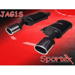 Silencieux sport  Sportex  Jaguar X-Type 2.5 V6 / 3.0 V6 (Avec parechoc sport) 2001 - 2009