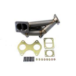 Collecteur d'échappement + Downpipe  Inox  Montage Turbo Stage 2/3 Mazda Mazda Rx7 1991 - 2002