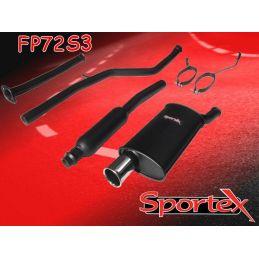 Ligne Performance + Intermédiaire + Decatalyseur Sportex 3 Peugeot 206 1.6 16V 2000 - 2007
