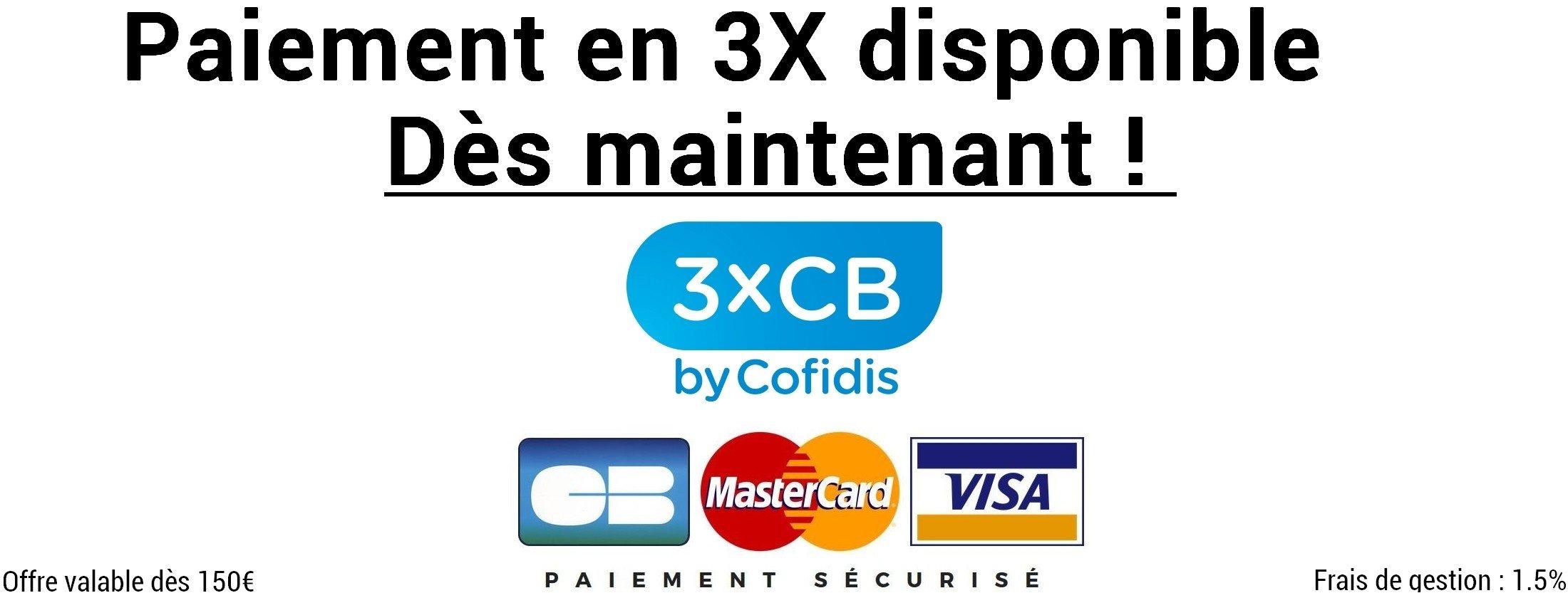 Cofidis paiement 3x Driveonly